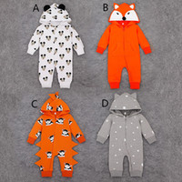 baby onesies animal - 2016 New Fox Rompers Autumn Kids Girls Aniaml Hoodies Jumpsuit Baby Boy Long Sleeve Orange Onesies