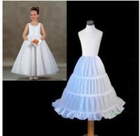 achat en gros de feuillets blancs pour les enfants-2016 Nouveau Trois Cercle Hoop Enfants Kid Dress Slip robe White Ball Flower Girl Dress Accessoires de mariage Petticoat