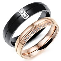 Mexican anniversary lists - New products listed fashion jewelry stainless steel cubic zirconia lovers rings