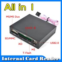 bay card reader - Hot Sale All In Internal Card Reader USB quot Floopy Bay Front Panel SDHC Micro SD MMC CF XD TF Flash Memory Card Reader