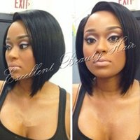 Wholesale Glueless brazilian straight bob short cut human hair lace front wigs full lace wigs bob style for black women
