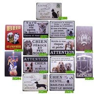 Wholesale Lovely Dogs Metal Tin Signs Decor Shop Pub Bar Home Wall Retro Art Poster