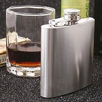 Wholesale 10oz Portable Stainless Steel Hip Flasks Drink Liquor Whisky Alcohol Flask Screw Funnel Cap