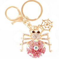 beautiful web - Hot Beautiful Spider Web Insect Spyder Charm Pendent Crystal Purse Bag Keyring Key Chain Gift