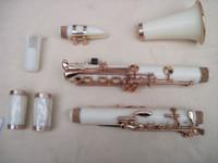 Wholesale white Clarinet kit Bb key golden plated parts