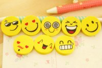 Wholesale Cute Cartoon Smile Face Pencil Eraser Creative Promotional Study Rubber For Children Students School Stationery Supplier