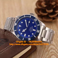Wholesale New Luxury High Quality Pelagos Automatic Mechanical Men Watch TB Blue Dial Stainless Steel Bracelet Gents Watches TU17 Gift Wood Box