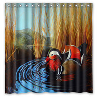 bath curtain duck - Mandarin Duck Design Shower Curtain Size x cm Custom Waterproof Polyester Fabric Bath Shower Curtains