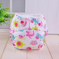 Wholesale 10pcs New Born Baby Cloth Diaper Waterproof Purn Cotton Nappy Colors