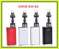 basic personal - Authentic SMOK R40 Starter Kit with Micro TFV4 Basic Tank Top Refilling mAh Capacity W Personal Vaporizer VS eGO AIO Kit iStick W