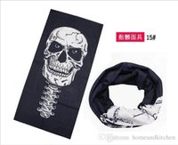 Wholesale 24 Styles Halloween Scary Mask Skull Masks Skeleton Outdoor Motorcycle Bicycle Multi Masks Scarf Half Face Mask Cap Neck Ghost