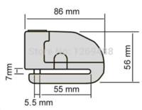 Wholesale Waterproof Black Motorcycle alarm disc lock mm Motorbike Motorcycle Wheel Disc Brake Lock Security Anti Thief