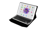 aluminum bluetooth wireless keyboard - Diamond Aluminum Slim Wireless Bluetooth Keyboard Smart Cover Cases For iPad pro inch with leather stand retail box