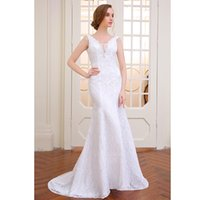 beautiful robe - very beautiful lace Sexy romantic mermaid wedding dress backless vestidos de noiva robe de mariage ball gowns