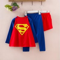 Wholesale Spring and autumn children s clothing for men and women Superman Batman styling kit