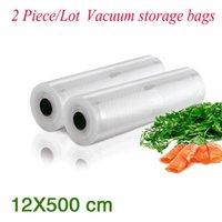 Wholesale Pieces PA PE Portable Handy Rolls Vacuum Food Saving Storage Bags Sealing Sealer Keep Food Fresh _12 cm
