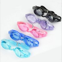 Wholesale 2016 high quality waterproof UV swimming mirror Antifog swimming glasses goggles adult men and women
