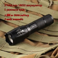 Wholesale E17 CREE XML T6 Lumens High Power LED Torches Zoomable Tactical LED Flashlights torch light Lattice Bright led for xAAA or x18650 batt