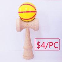 baseball creativity - 2016 NEW cm basketball DQ High quality beech wood kendama good iridescence chromosphere and kendama pill
