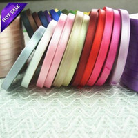 Wholesale Fabric mm Yards Pink Silk Satin Organza Polyester Ribbon For Sewing Wedding Party Decoration Webbing Crafts Gift Packing Belt Merry Chris