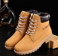 authentic cowboy boots - Authentic Brand New Classic Fashion Men Premium Waterproof Wheat Nubuck Green Martin Boots