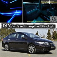 atmosphere types - interior Ambient Light Tuning Atmosphere Fiber Optic Band Lights For HONDA City Type Zp ZX S Fit Aria Everus S1 Ballade Grace