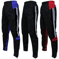 Wholesale 2016 High quality soccer training pants leg trousers pants training pants feet Slim narrow pants male fitness pants pocket with zipper