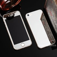 bags colored glass - obile Phone Accessories Parts Mobile Phone Bags Cases With LOGO Hot Colored Front and Back Premium Tempered Mirror Glass Screen Protector