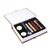 Wholesale Initial Letter Vintage Alphabet Wax Seal Stamping Scrapbooking Wax Kit Set Letter A