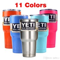 Wholesale 11 Color Beer Mug oz oz Yeti Cup Stainless Steel Yeti Rambler YETI Coolers Rambler Tumbler Double Walled Travel Mug YETI cup colster