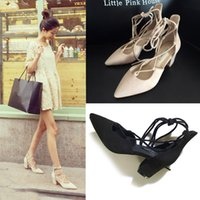 Wholesale Fashion Slip On Women Chunky Heels Sandals G