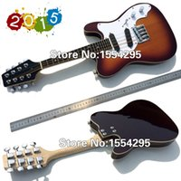 Wholesale High quality hand made solid body Strings Electric mandolins guitar String Mandolin Sunburst Retail