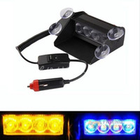Wholesale Good Promotion Universal LED Emergency Car Vehicle Windshield Sucker Warning Strobe Flash Light Lamps fit for truck for SUV