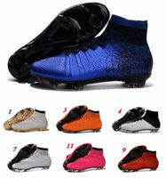 Wholesale 2016 factory direct n ke mercurial superfly fg mens soccer shoes cheapest mercurial superfly original outdoor sport football shoes