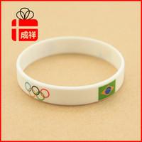 olympic flag - New Brazil FC Olympics Flag Summer Wristband Wrist Band Bracelet silicone gym fitness power bands bracelets