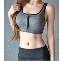 Wholesale Women s Seamless Sport Bra Vest Push Up Bra Genie Bra Tight Underwear Before Open Buckle Zipper Size S L