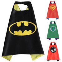 Wholesale Gold Hands New cm Kids Superhero Capes Hulk Ironman Captain America Cape Children in Stock Cosplay Costume Clothing Free Shippin