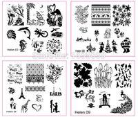 Wholesale newest helen1 nail art image plate nail template nail beauty TOOLS nail disk dia cm cm