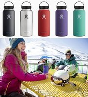 Wholesale Hydro Flask oz Vacuum Insulated Stainless Steel Water Bottle ml Stainless Steel Tumbler Water Bottle cold insulation CUP HHA1112