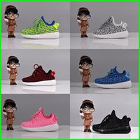Wholesale Kanye West Boost Kids Shoes Sneakers Casual Shoes Clone for Boys Girls Size Children Shoes Colors