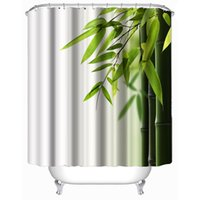 bamboo fabric curtains - Customs W x H Inch Shower Curtain Fresh Bamboo Waterproof Polyester Fabric Shower Curtain