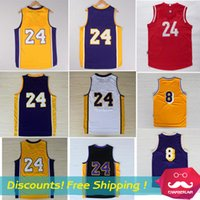 Wholesale Cheap Men S Gold - Return the King #24 Jersey short sleeved Cheap #8 Jersey Lower Merion High School Bryant Basketball Jersey embroidered Logo