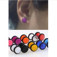 Wholesale 2X Stainless Steel Fake Cheater Ear Plug Gauge Illusion Body Jewelry Pierceing Earrings C00105 SPDH