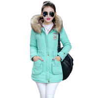 Wholesale 2016 Winter Womens Parka Casual Outwear Military Hooded Coat Winter Jacket Women Fur Coats Women s Winter Jackets And Coats SD30