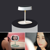 beauty bathrooms - New Arrival Multifunctional table lamp Desktop LED mirror light Swivel Cosmetic Makeup Lamp Lady Beauty Facial Lighting Bathroom Bedroom