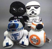 HOT 4pcs / lot Star Wars peluche jouet 20cm chiffres d'action personnage Poupée en peluche Super déformé Boba Robot Strom soldat Darth Stuffed Toy
