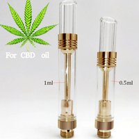 Wholesale Gold clear glass bud touch CE3 atomizer ml CBD hemp oil bud touch vaperizer pen e cigarette vape O pens tank thick waxy oil cartridge
