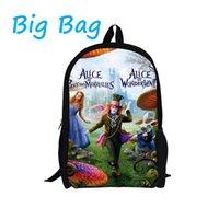 alice peach - Trendy cute school bag for girls cool stylish alice in wonderland children school backpack teenager kids shoulder schoolbag