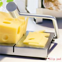 Cheese Slicer Board Cutter Stainless Steel Wire Cutting Cuisine d'outils à main Servir Conseil de qualité supérieure avec une longue poignée incurvée DHL bateau libre