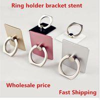 metal bracket - Universal finger grip degree metal ring holder hook mobile phone holder stent for tabalet car bracket stand with package mm0504